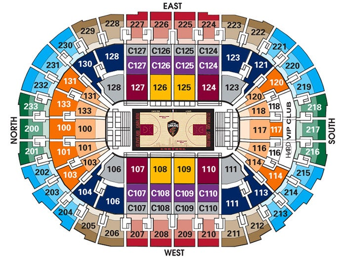 Seating charts quicken loans arena official website