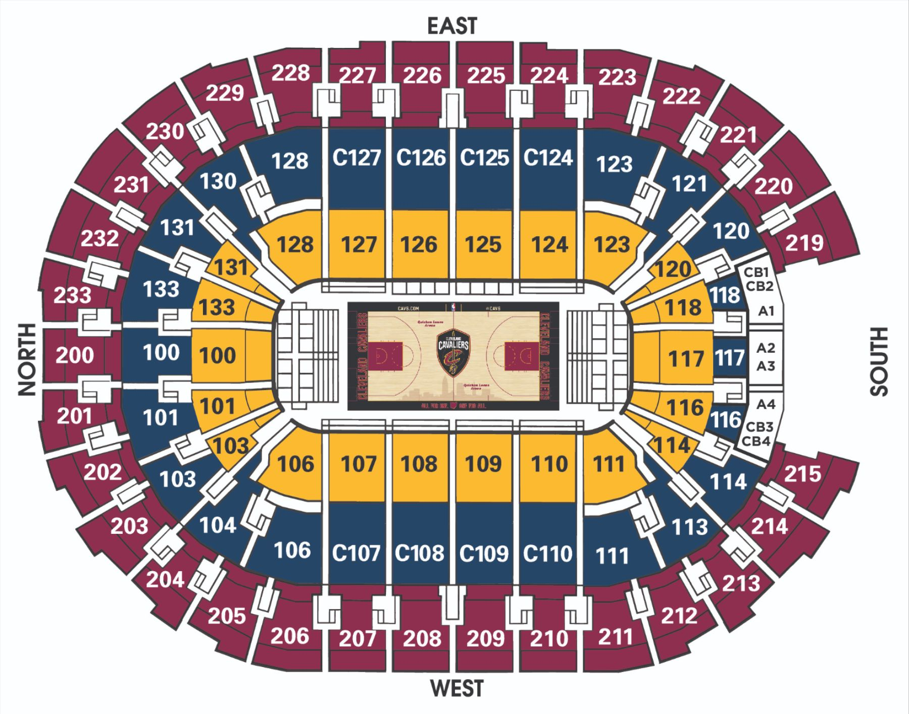 Cavs 2018-19 Seating