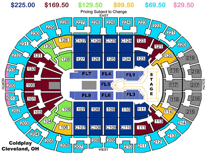 Coldplay a head full of dreams tour quicken loans arena official