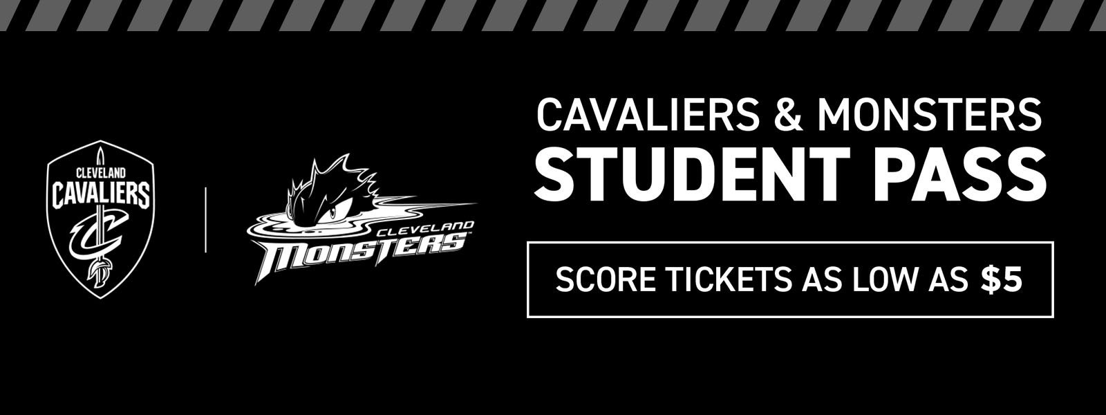 Cavaliers & Monsters Student Pass