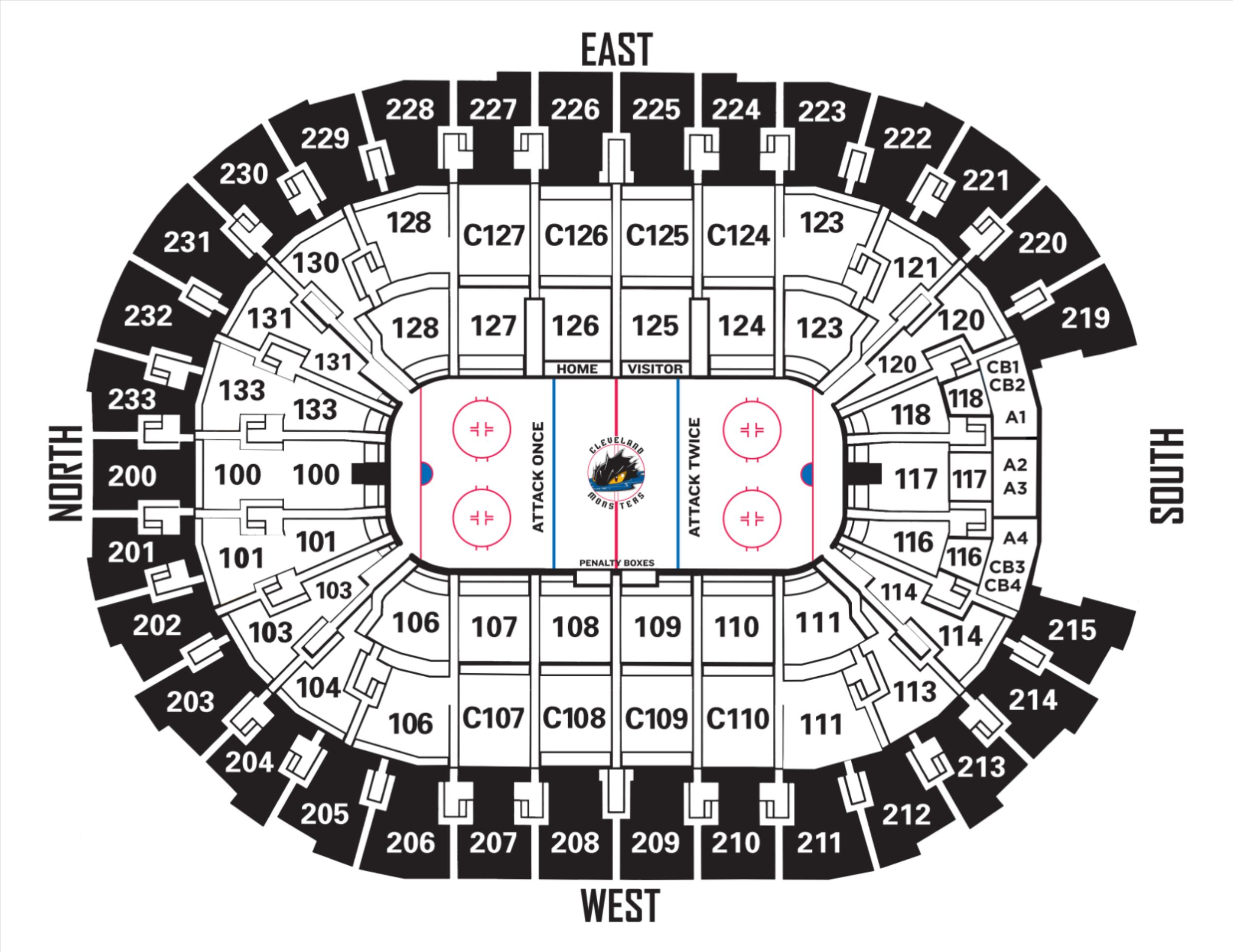 Monsters 2018-19 Seating