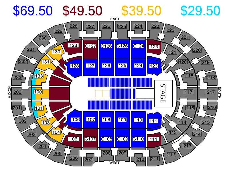 Quicken Quicken Loans Arena Map on