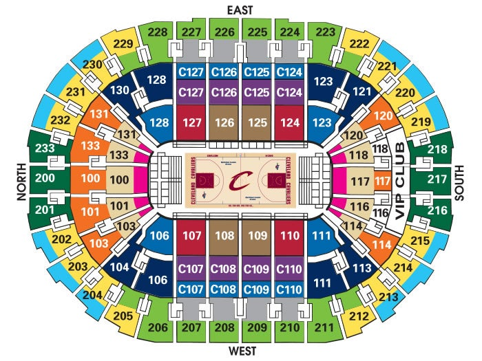 Cleveland cavaliers seating chart with seat numbers keni ganamas co