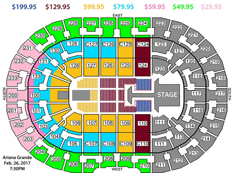 Ariana Grande Dangerous Woman Tour | Quicken Loans Arena ...