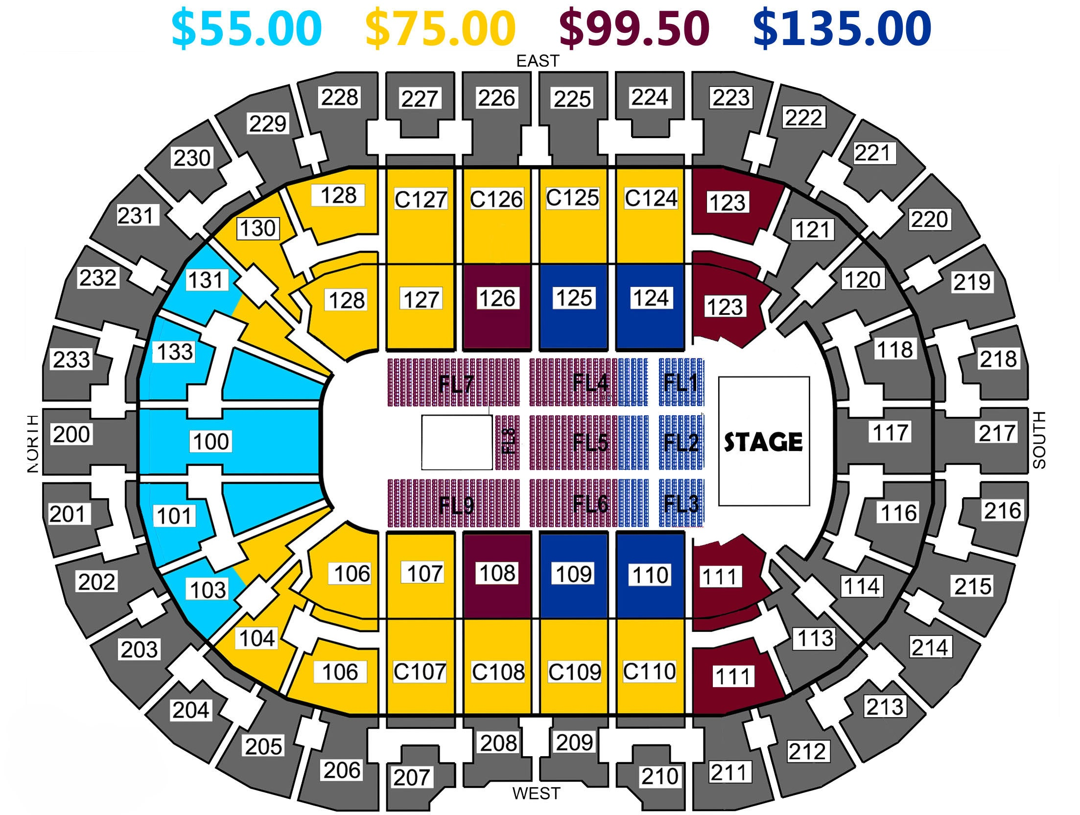 Seating charts quicken loans arena official website - View Seating Chart