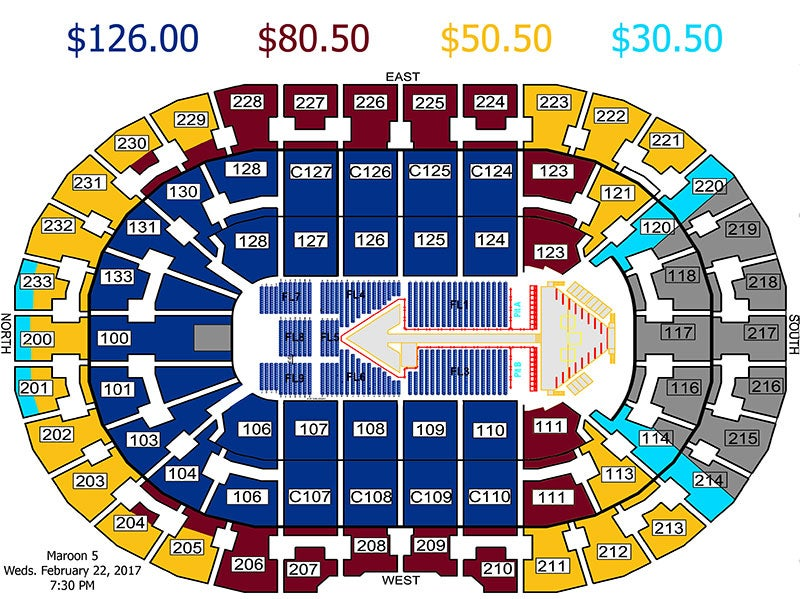 Quicken Loans Arena Seating Chart Concert Review Home Decor