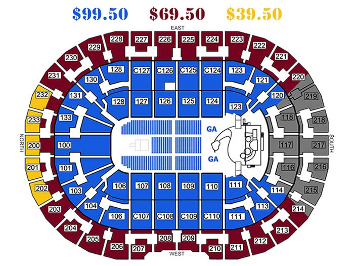 Seating Chart For The Q - Quicken loans arena cleveland ...