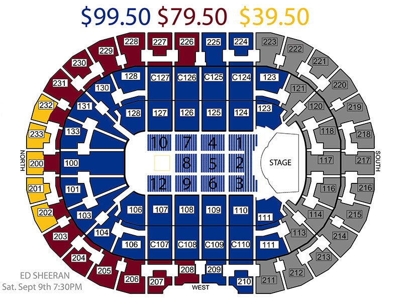 Quicken Loans Arena Seating Chart Row Amp Seat Numbers Oukasinfo
