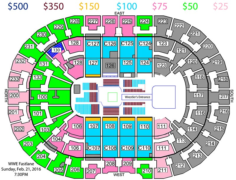 Quicken Loans Arena Seating Chart Wwe Awesome Home